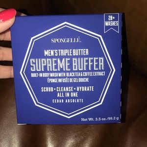 Spongelle-Men's Triple butter Cedar Absolut buffer
